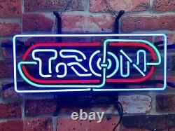 Nouveau Tron Reconnu Arcade Salle De Jeu Neon Light Sign 24x10 Beer Lampe Glass