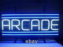 Nouvelle Salle De Jeu Arcade Blue Neon Light Sign 24x12