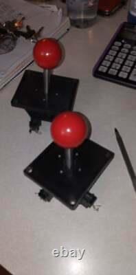 Paire Originale De Wico 4 Pouces Williams 8 Voies Robotron Joysticks Arcade Travail