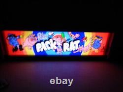Peter Pack Rat Marquee Jeu / Rec Room Led Display Boîte Lumineuse
