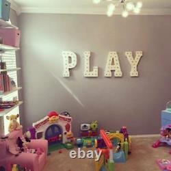 Play Marquee Sign Battery Operated Led Letters Light Up Kids Game Room Arcade