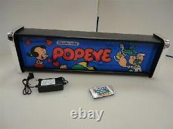 Popeye Marquee Jeu / Rec Room Led Display Boîte Lumineuse