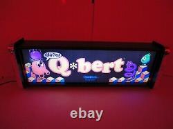 Qbert Marquee Game/rec Room Led Display Boîte Lumineuse