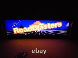 Roadblasters Marquee Jeu / Rec Room Led Display Boîte Lumineuse