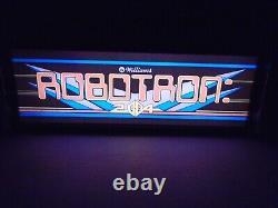 Robotron Marquee Jeu / Rec Chambre Led Affichage Boîte À Lumière