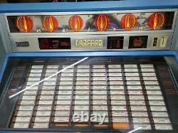 Rowe Ami R-91 Jukebox Vinyl Coin Operated Blue 200 Sélections Arcade Salle De Jeu