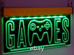 Salle De Jeu Arcade Nintendo Jeu Led Signes Neon Light Ps-5 X-box Fallout Man Cave