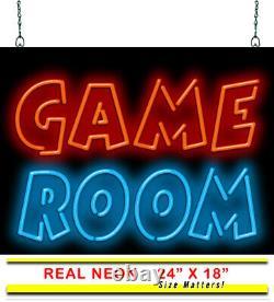 Salle De Jeu Neon Sign Jantec 24 X 18 Man Cave Arcade Bar Pizza Place Party