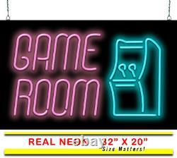 Salle De Jeu Neon Sign Jantec 32 X 20 Arcade Neon Light Man Cave Jeu Vidéo
