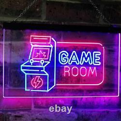 Salle De Jeux Arcade Tv Man Cave Bar Dual Color Led Neon Sign St6-j2850