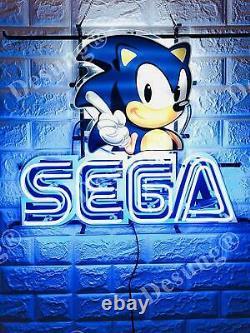 Sega Arcade Game Room Lamp Light Lamp Neon Sign 20x16 Avec Hd VIVID Printing