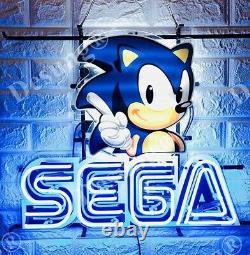 Sega Arcade Vidéo De Jeu Lampe De Lumière De Salle Neon Sign 20x16 Avec L'impression Hd VIVID