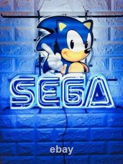 Sega Arcade Vidéo Salle De Jeu Real Neon Sign Bar De Bière Lampe Lumière À La Maison Cadeau De Décoration