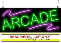 Signe De Néon Arcade Jantec 32 X 13 Salle De Jeux De Jeux De Jeux De Jeux Prix Prix