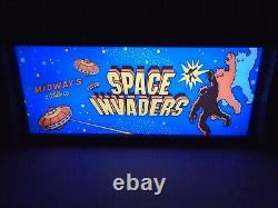Space Invaders Marquee Game/rec Room Led Display Boîte Lumineuse