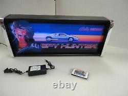 Spy Hunter Marquee Jeu / Rec Room Led Display Boîte Lumineuse