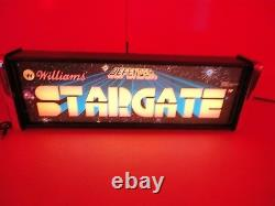 Stargate Marquee Game/rec Room Led Display Boîte Lumineuse