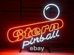 Stern Pinball Salle De Jeu Arcade Neon Light Sign 32x24 Affiche De Lampe Bière Bar