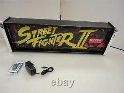 Street Fighter 2 Marquee Jeu / Rec Chambre Led Affichage Boîte À Lumière