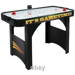 Sunnydaze 4-foot Air Hockey Table, Jeu De Sports Pour La Salle D'arcade Inclut