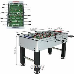 Sunnydaze 55 Metallic Foosball Soccer Arcade Sports Table For Game Room