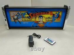 Superman Marquee Jeu / Rec Chambre Led Affichage Boîte À Lumière