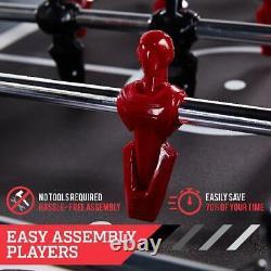 Table De Football 54 Pouces Arcade Foosball Table Facile Assemblage Joueurs Salle De Jeu Nouveau