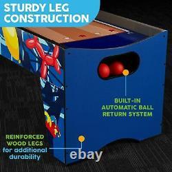 Table De Salle De Jeu Arcade Skeeball 7' Avec Marqueur Led, Lumières Et Effets Sonores