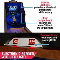 Table De Salle De Jeu Arcade Skeeball 9' Avec Marqueur Led, Lumières Et Effets Sonores