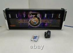Ultimate Mortal Kombat 3 Marquee Jeu / Réc Chambre Led Affichage Boîte À Lumière