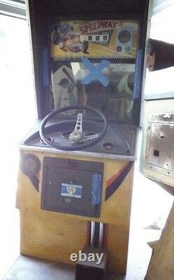 Vintage Chicago Coin Op Em Speed way Jeu D'arcade Pour Les Pièces Ou La Restauration