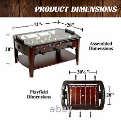 Wooden Foosball Table Basse Arcade Game Room Wood Family Sports Indoor Soccer