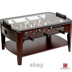 Wooden Foosball Table Basse Table Arcade Game Room Wood Family Sports Indoor Soccer